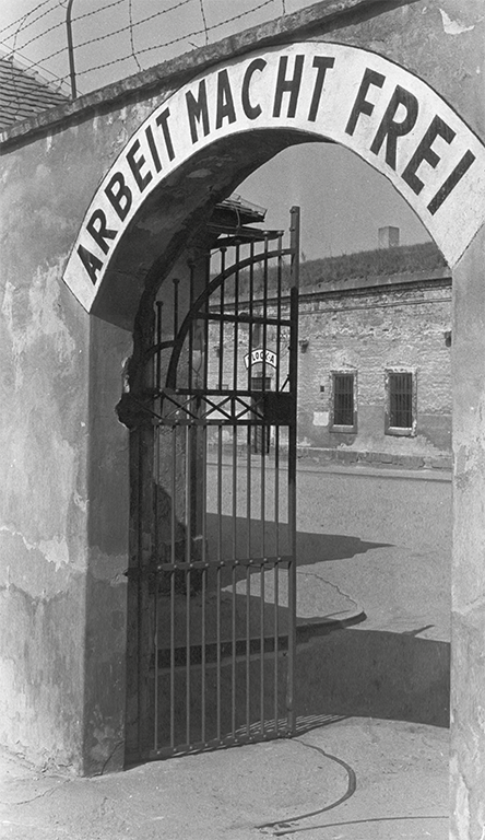 """Work makes you free"": Gate to the Theresienstadt ghetto"
