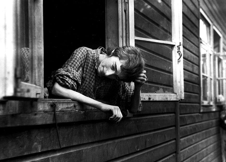 Liberated – young woman, infirmary, Bergen-Belsen concentration camp
