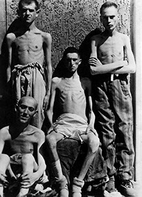 Group of male prisoners after liberation
